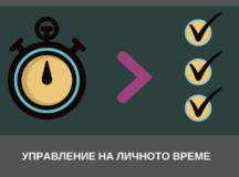 Управление на личното време – една работеща стратегия