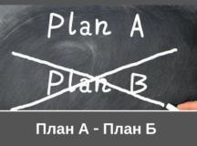 План А – План Б стратегия