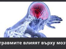 Как травмите влияят върху мозъка?
