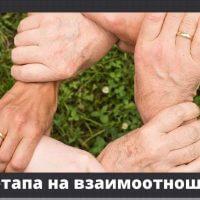 Петте етапа на взаимоотношенията